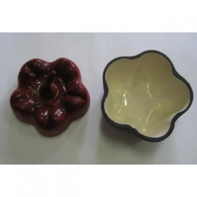Горщик чавунний ALPARI ПЕРЧИК 0,5 л (червоний) — фото 2