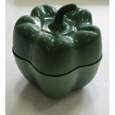 Горщик чавунний ALPARI ПЕРЧИК 0,5 л (зелений) — фото 2