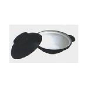 Каструля чавун. ALPARI XG5215 д. 25,5см з кр. біла\чорна
