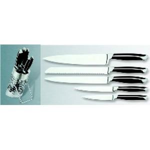 Набір ножів ALPARI KNB-1069 нерж.колода